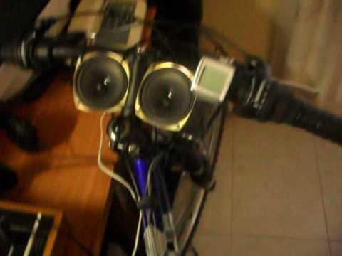 Bici con impianto stereo da 175 w youtube - Impianto stereo da camera ...