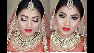 Double Cut-crease Bridal Makeup Look  Indian, Bangladeshi and Pakistani  Walima Bridal Makeup