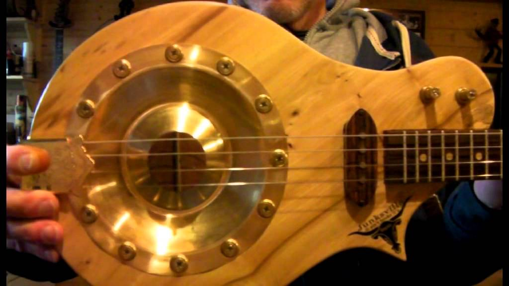 4 string resonator cigar box inspired guitar the prospector by junksville guitars for sale. Black Bedroom Furniture Sets. Home Design Ideas