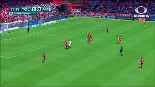 Gol de R. Martínez | Toluca 1 - 1 América |  Clausura 2019  - Jornada 15 | LIGA Bancomer MX