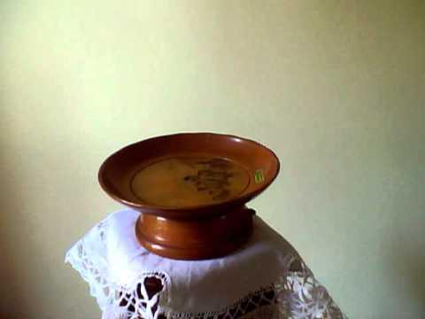 Wooden musical plate