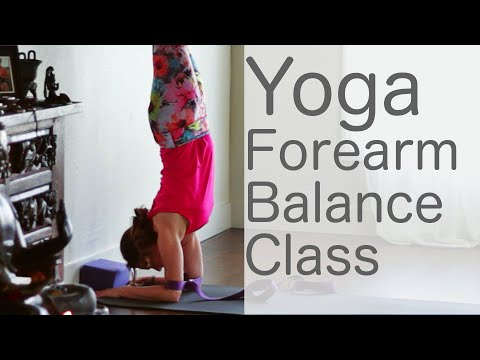 Yoga Flow: get sweaty learning forearm balance With Fightmaster Yoga