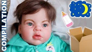 Reborn Toddler Baby Doll Box Opening | First Night Home | Morning Routine | Compilation Video