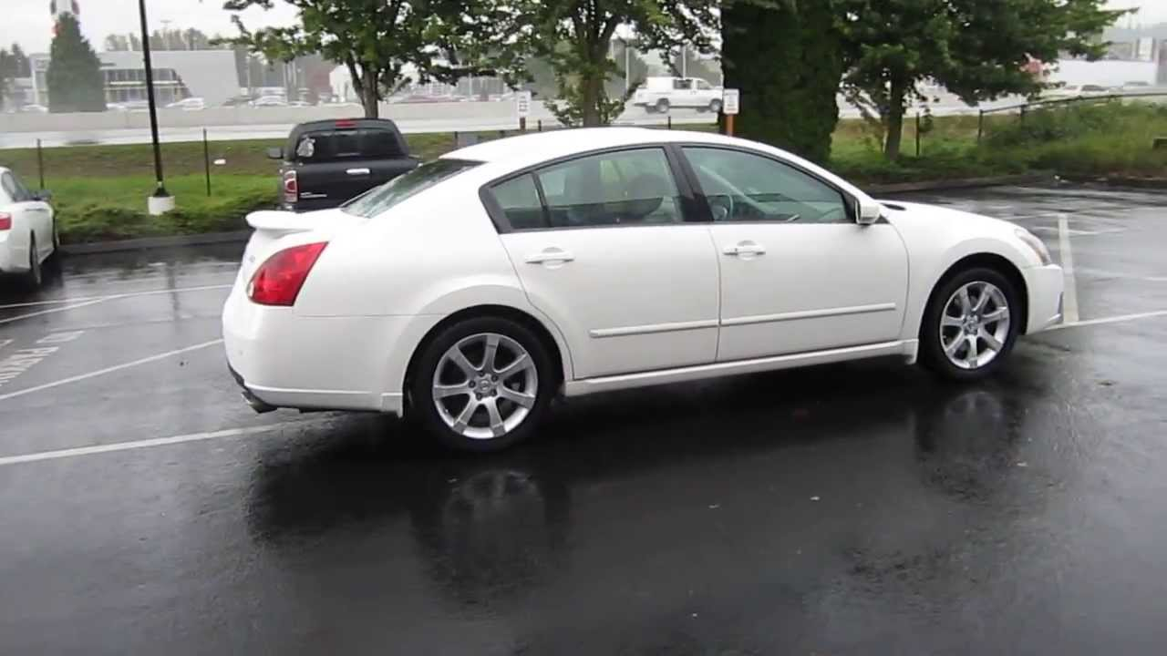 Beautiful 2007 Nissan Maxima, White   STOCK# 731159   YouTube