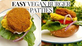 Easy Vegan Burger Recipe Delicious Raw Vegan Burger Patties Youtube