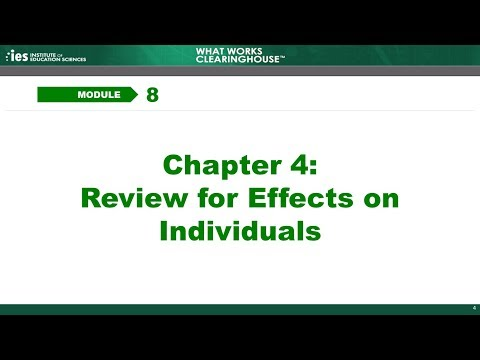 Module 8, Chapter 4: Review for Effects on Individuals