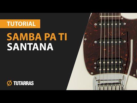 Como tocar SAMBA PA TI de Santana en Guitarra electrica CLASE TUTORIAL