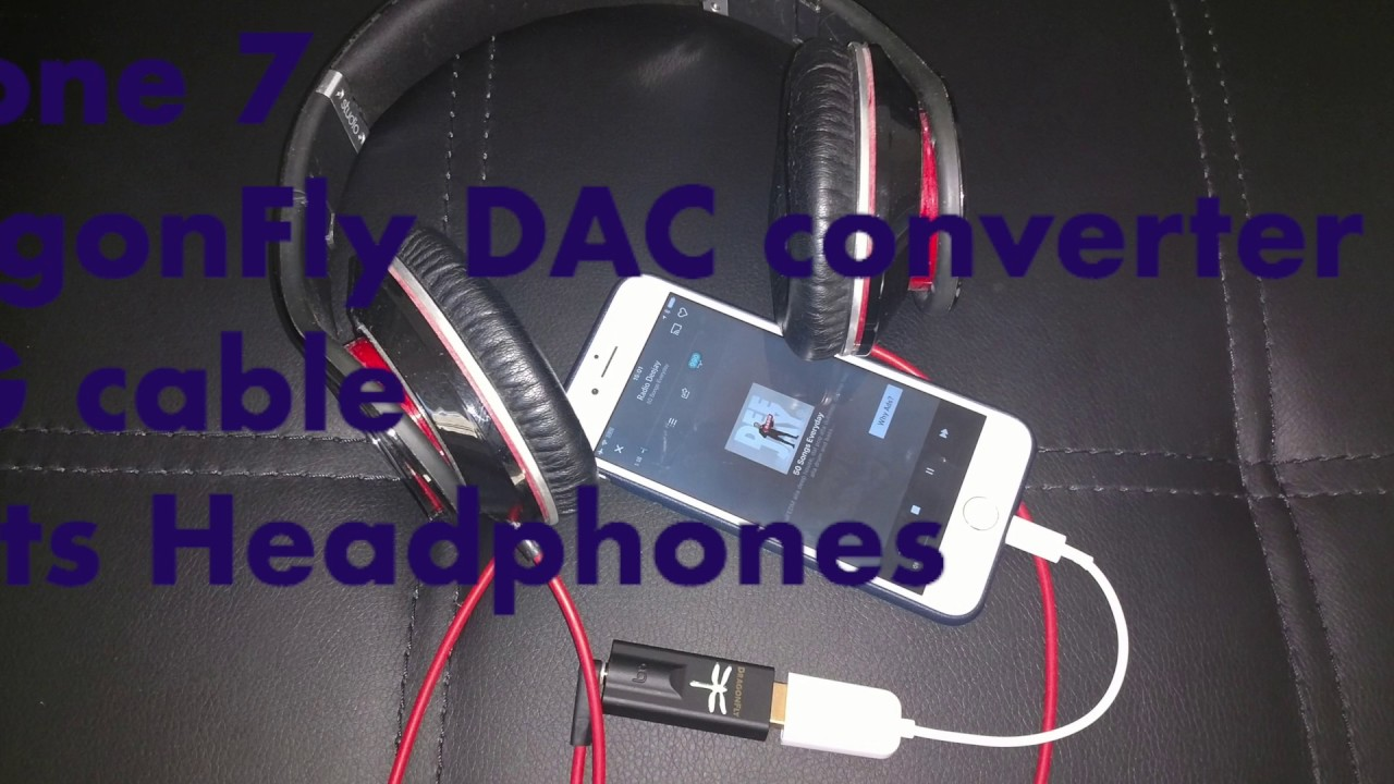 How to connect iPhone 7 with OTG cable for DAC