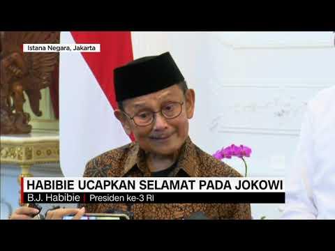 Habibie Ucapkan Selamat Pada Jokowi