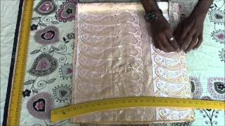 Anarkali Dress Tutorial - Part 1 (Top Cutting)