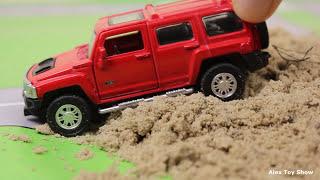Мультик про машинки - 177 серия: Гоночная машина, внедорожник, Монстер трек, Автобус