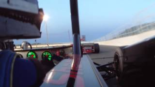 Keith Shampine wreck in the Osetek racing 55 supermodified