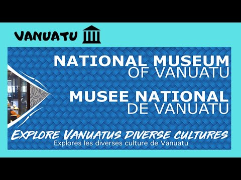 VANUATU, Human skulls and ANCIENT ARTEFACTS, the NATIONALMUSEUM, PORT VILA