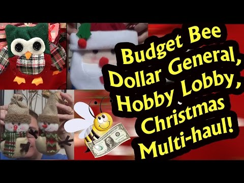 Dollar General, 99 cents only, Hobby Lobby, Tom Thumb, Albertsons Christmas Haul Video!