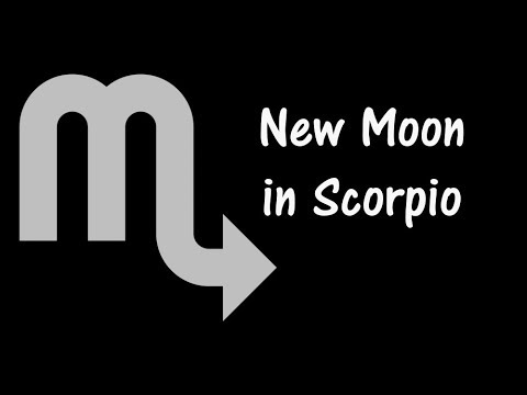New Moon in Scorpio November 7, 2018 Gregory Scott Astrology