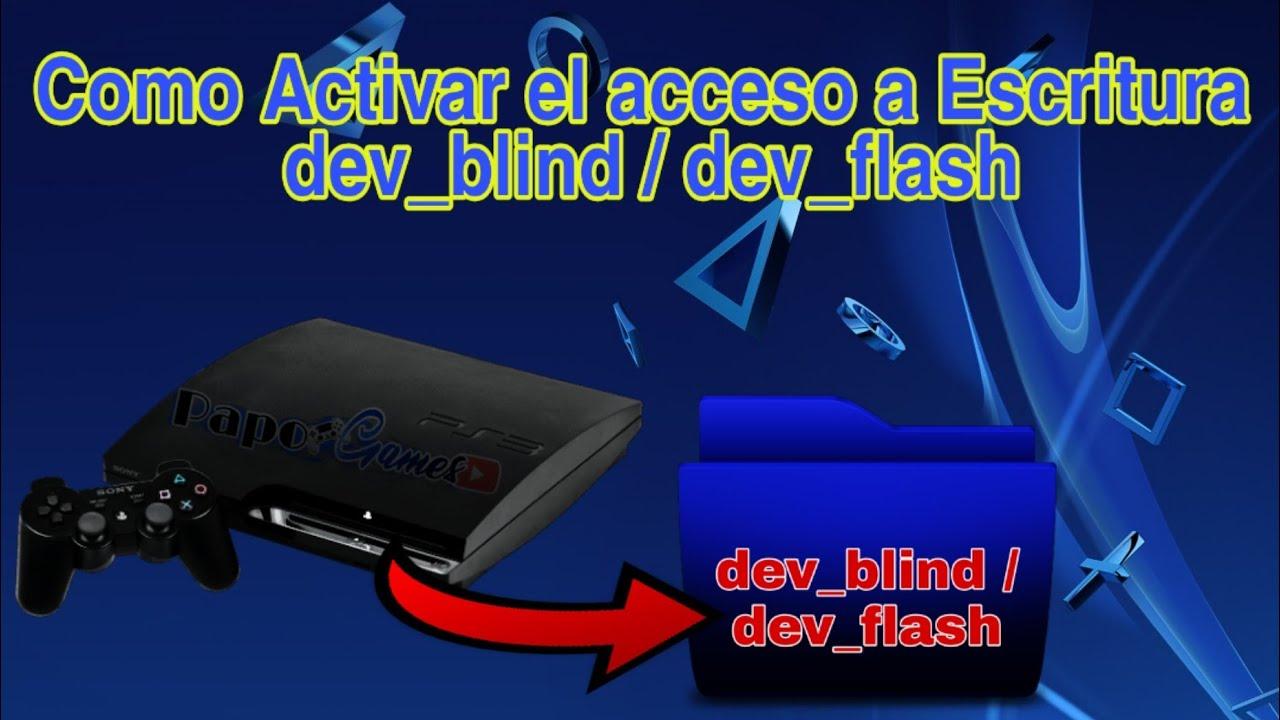 Como activar el acceso a escritura dev_blind PS3