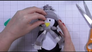 Day one - DIY No Sew Sock Penguin