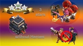 3 stars TH9 without heroes