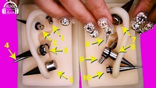 [ASMR] 医療用シリコン耳に拡張ピアスをする音 - Sound For Expanding Piercing In Silicone Ear [素人] thumbnail
