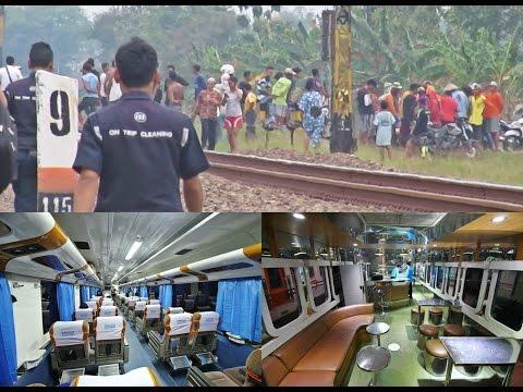 (Trip Report KA RANGGAJATI) Kereta Nabrak Orang