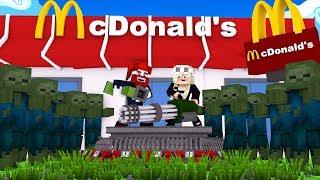 1000 Zombies versuchen unser McDonalds zu zerstören!