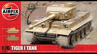 Airfix Tiger 1 Tank 1/76 Model Kit Complete