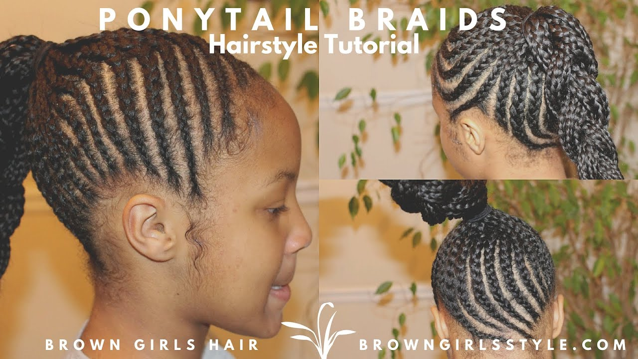 Braids Ponytail Natural Kids Hair