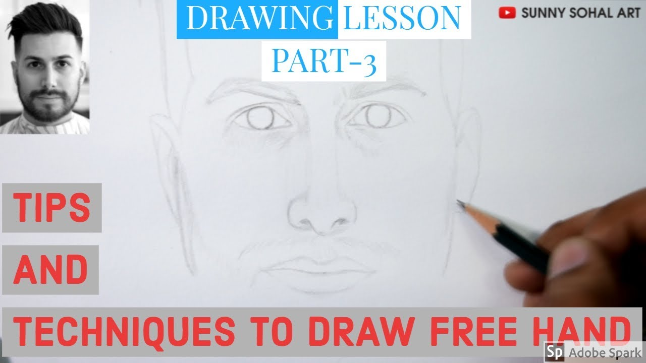 Freehand Drawing Tutorial For Beginner Artists Drawing Lesson Part 3 Sunny Sohal Art