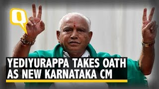 Karnataka Crisis: Yediyurappa Takes Oath as Karnataka CM; Floor Test by 31 July