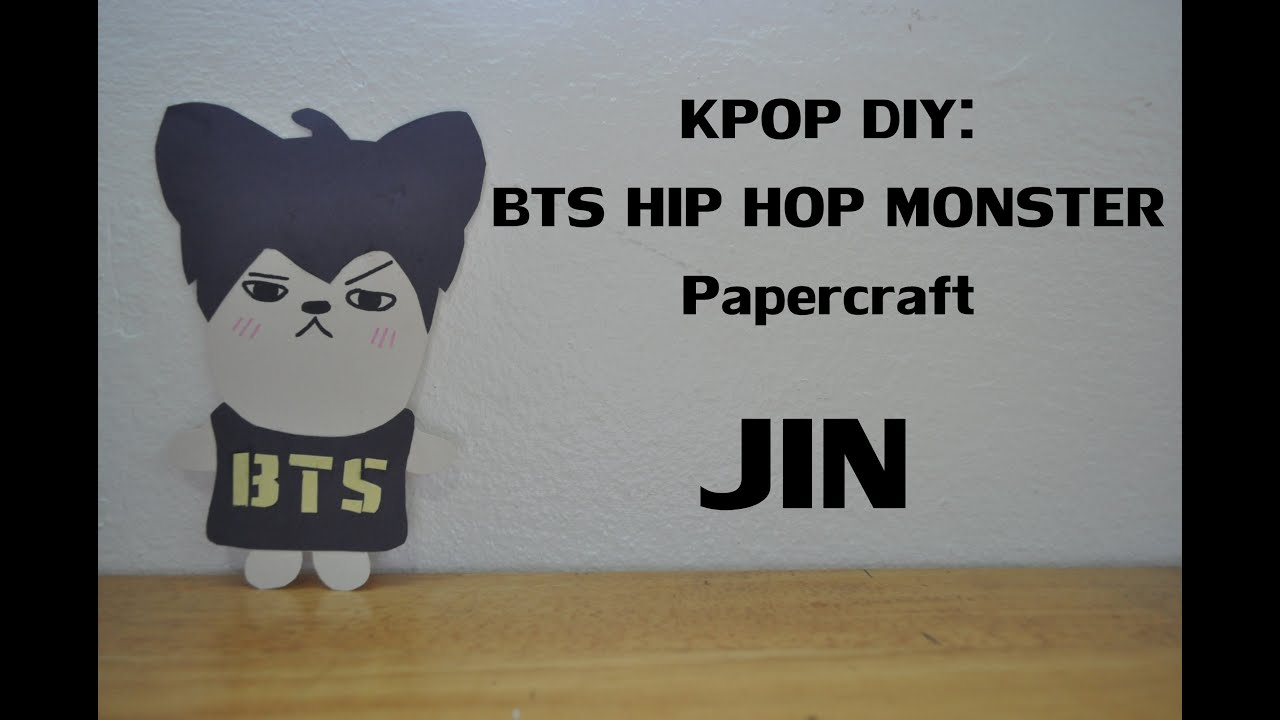 Papercraft KPOP DIY: BTS HIP HOP MONSTER Papercraft: JIN