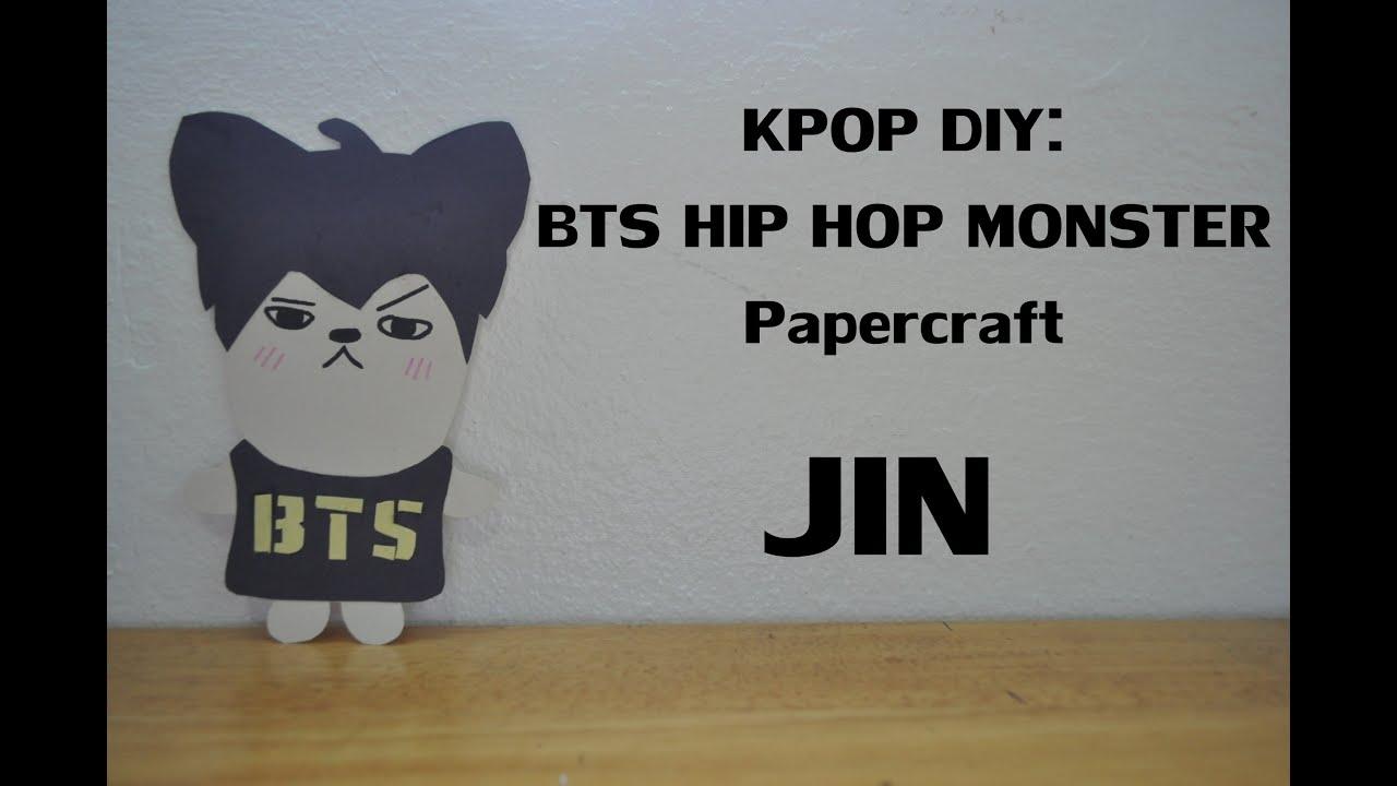 Papercraft KPOP DIY: BTS HIP HOP MONSTER Papercraft: JIN