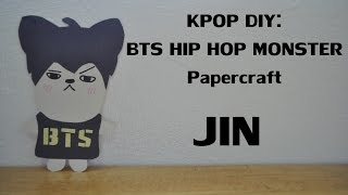 KPOP DIY: BTS HIP HOP MONSTER Papercraft: JIN
