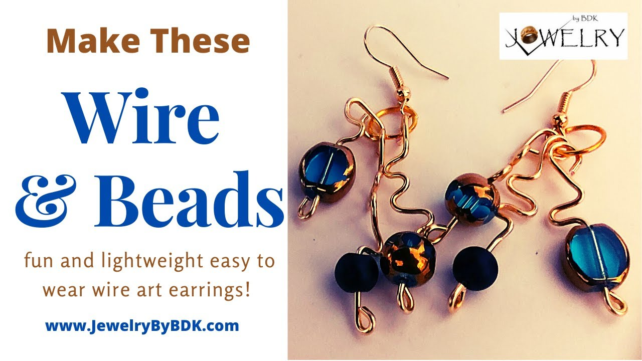 Making Wire & Beads Wiggly Earrings