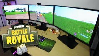 insane triple 4k monitor gaming setup