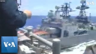 US and Russian Navy Ships Nearly Collide
