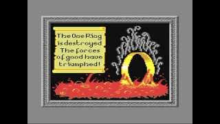 Commodore 64: War in Middle Earth game ending by Melbourne House