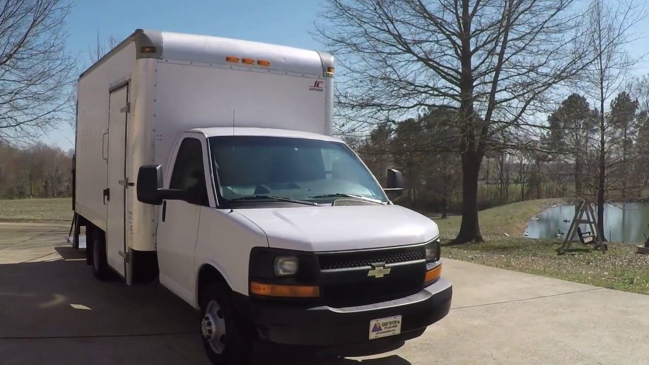 Hd Video 2013 Chevrolet Express 3500 Box Truck 14 Ft With