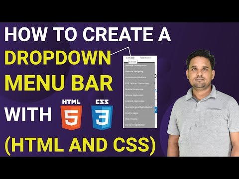 How To Create A Drop Down Menu Bar With Html And Css