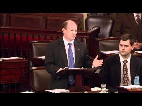 Senator Coons talks about patent reform on the Senate floor