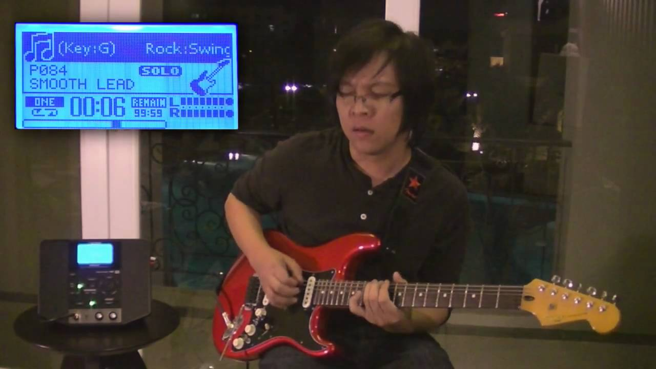 Boss eband js-8 | reproductor de audio con efectos para guitarra.