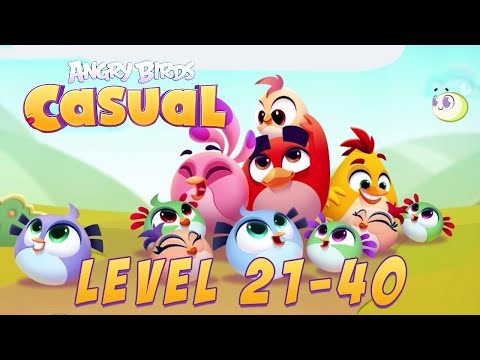 Angry Birds Casual Level 21-40 - iOS / Android Walkthrough Gameplay