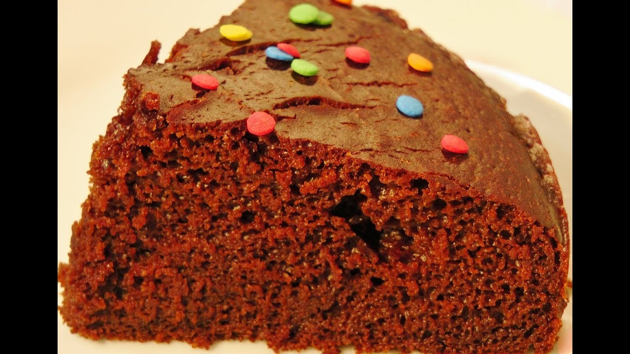 How to make a chocolate cake from scratch without eggless in pressure cooker