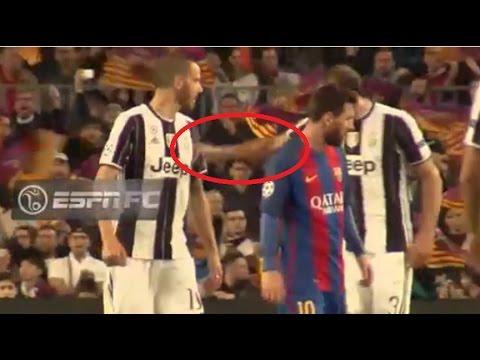 Chiellini golpeó a Bonucci por pedir la camiseta de Messi