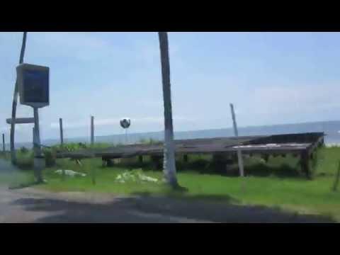 Gabon - Libreville Beach video from a car.