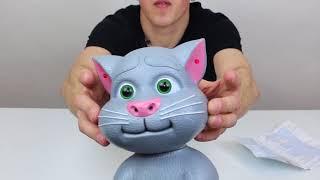 Обзор интерактивной игрушки говорящий Кот Том на русском языке (арт. 741SA)