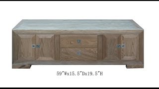 European Style Natural Wood Lower Altar Table Tv Stand Cabinet Wk2129