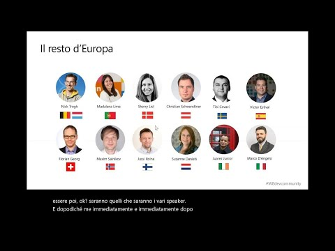 Connect With Microsoft Italy And Your Local Dev Community (Italian) | COM172
