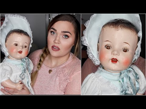 I Bought a 100+ Year Old Doll. (Is it Haunted?!) | Thrift Shopping Haul