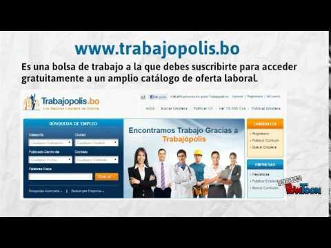 Como Buscar Trabajo En Bolivia Youtube