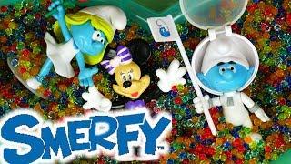 Smerfy • Magiczne Kulki w Basenie • Myszka Minnie & Kulki żelowe • Bajki dla dzieci